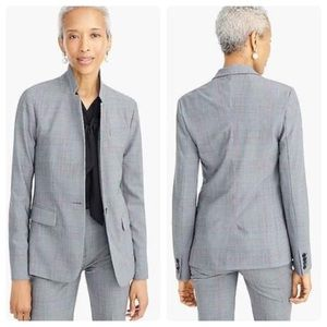 J.CREW 0 Regent Blazer in Glen Plaid Everyday Wool